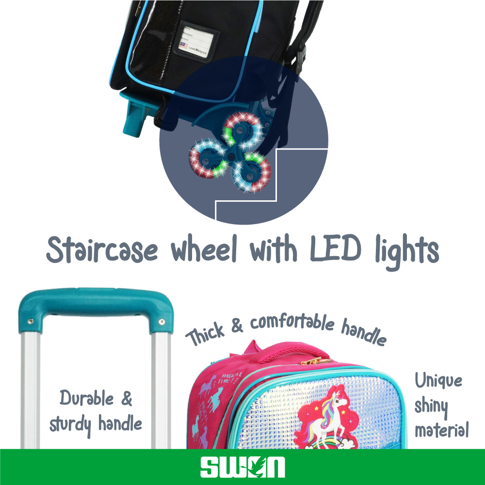 Swan Bag Light Wheel Spinal Protection Back Support - Box