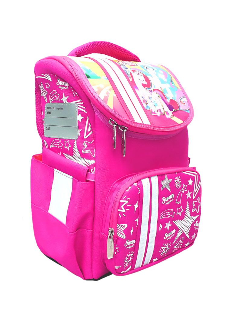 Swan Smart Lite School Bag With Spinal Protection Back Support - Unicorn3 [Free Pencil Box]